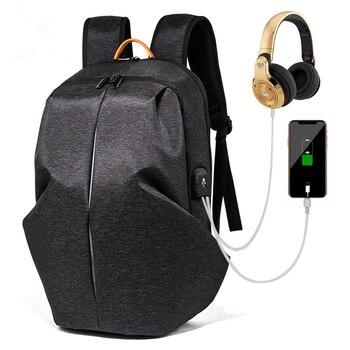 2018 New Men and women Backpack USB Charging Bag 15.6inch Laptop Backpack High Capacity Men Travel Backpack