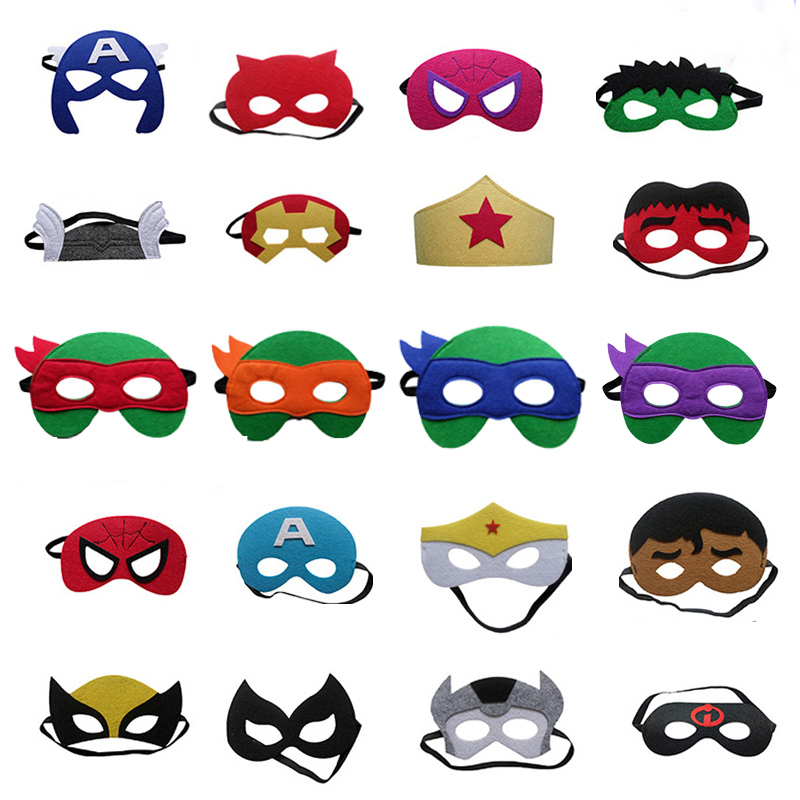 Jewelry & Watches Lower Price with 1pc Super Hero Mask Spider Man Captain America Marvels The Avengers Kids Birthday Gift Costume Cosplay Party Decor Supplies