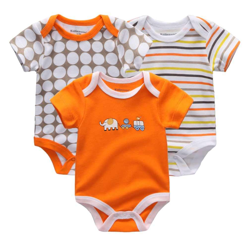 2d5ae107ff263 Free Shipping 3PCS/LOT Baby Clothing 2018 New Newborn Baby Boy Gril Romper  Clothes Short Sleeve Roupas de bebe Infant