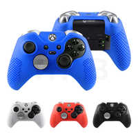 Silicone Protective Cases Cover for XBOX ONE 1 Elite Controller Gamepad Black Red Blue White Anti-skid Joystick Accessories