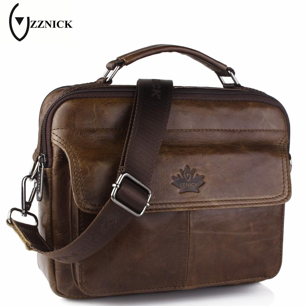 ZZNICK 2017 New Genuine Leather Bag Casu
