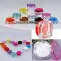 15 Pçs/lote Recarregáveis Vazio Boião de Creme de Rosto Quadrado Pote Portátil Garrafa de Água Caixa de Shampoo Em Pó Recipiente Da Amostra Cosméticos Lip Balm