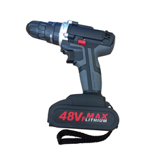 48V Cordless Electric drill powerful Rechargeable Lithium Battery Cordless Hand Drills Home DIY Electric Screwdriver Power Tools цена и фото