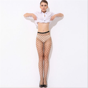 2017 Hot Selling Women's Long Sexy Fishnet Stockings Fish Net Pantyhose Mesh Stockings Thigh High Stocking