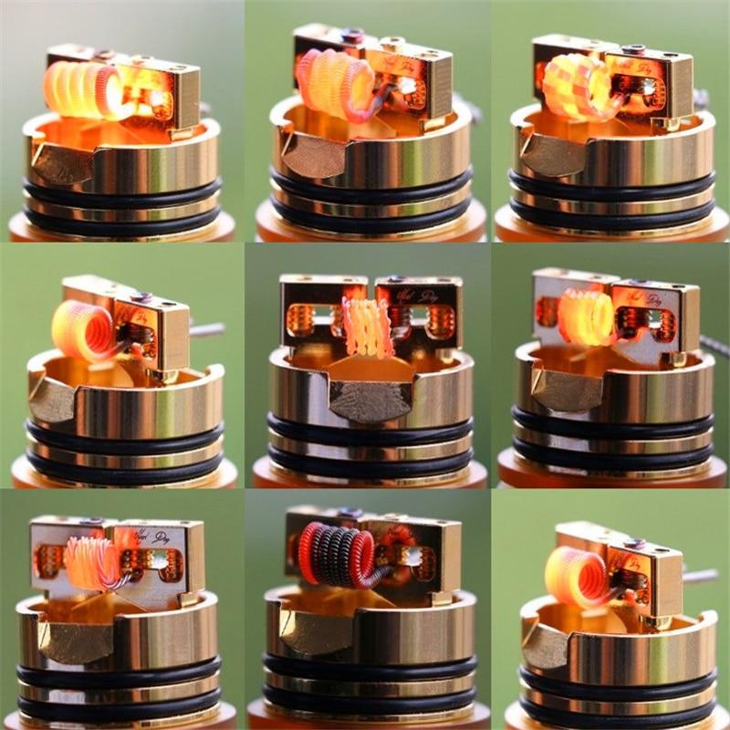 Ni80 Prebuilt Coil Qued Hive Alien Fused Clapton Mix Tiger Flat Nichrome Premade Vape Coil for Resistance Vape DIY Heating Wire