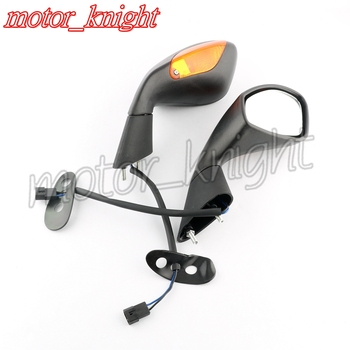 Motorcycle Rearview Mirrors Side Rear View Integrate Turn Signal Light for Aprilia RSV1000 RSV 1000 R/Mille 2004 2005 2006 2007