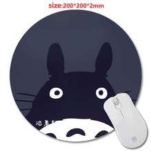 New Arrivals Anime Cat Round Gaming Nice Mouse Mat Custom Your Styles Non-Slip Durable Computer And Laptop 200X200X2cm Mouse Pad