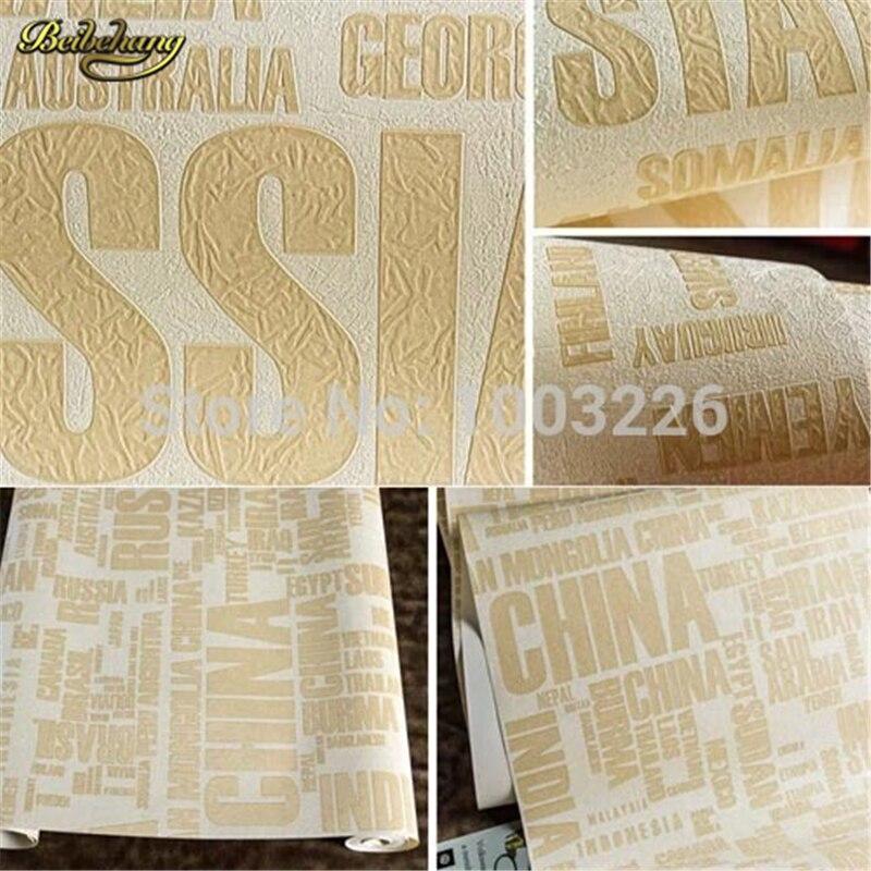 beibehang English Letter Wallpaper PVC Waterproof Wall Paper KTV ...
