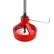 HOT 2PCS Carpenter's Workshop,Wood working hole puncher& drill vetical fixed clamp cutting head positioning tool