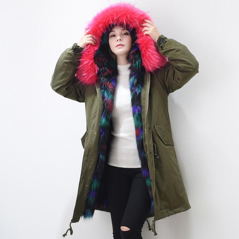 New Winter Luxurious Extra Large Fox Fur Coat font b Women s b font Long warm