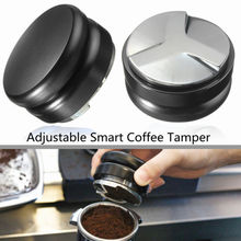 Stainless Steel Coffee Tamper Adjustable Height Powder Hammer Cloth Distributor Distribution Tool Espresso
