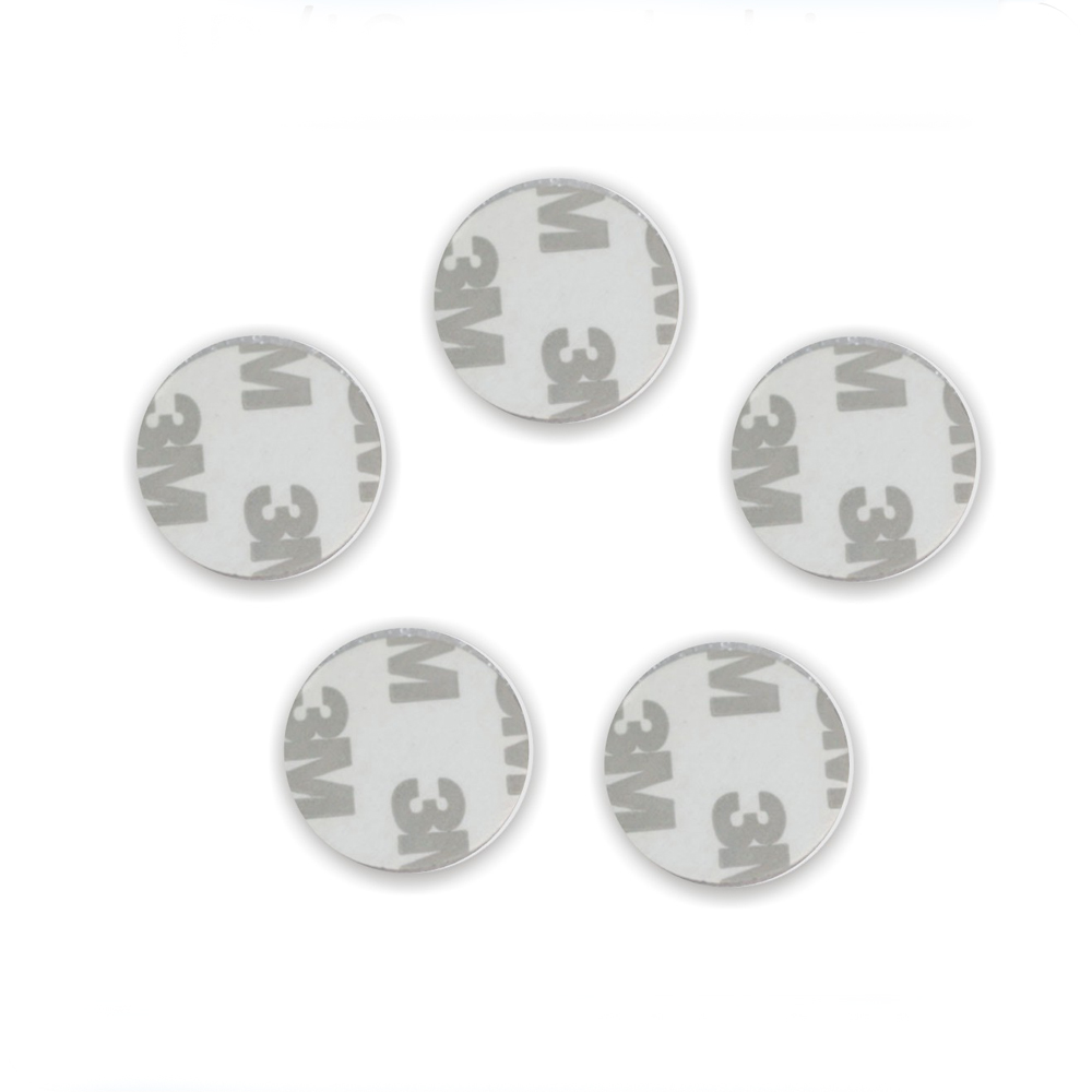 100Pcs/lot 3M Adhesive 13.56MHZ F08 S50(Compatible With) 1K NFC Tag 3M Adhesive NFC Coin IC Card (25mm)