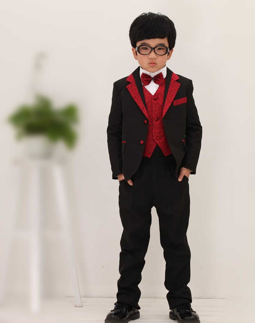 Hot Child Tuxedo Suit 2017 Wedding Dress For Kids Boy Suits Red Bm 0140 Baby Blazer Set Jacket Pant Vest In From Men S Clothing
