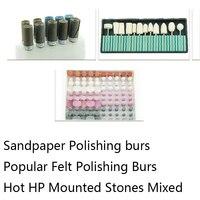 Abrasive Paper Kit Zp100 Popular Felt Polishing Bur Kit Z2001 Zs100 Hop HP Mounted Stones Mixed