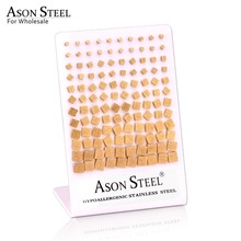 ASONSTEEL Frosted Square Stud Earrings Gold Stainless Steel Prevent Allergy Earring for Women Girls Party Decoration Gifts