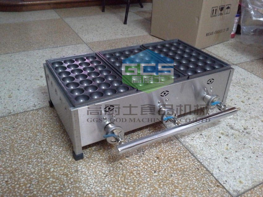 Free shipping Gas type 3 plates commercial Takoyaki machine 40MM size ball цена и фото