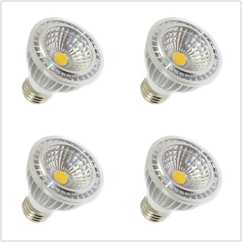 6pcs led bulb light E27 GU10 socket 5W COB par20 led spotlight lamp AC 110V 220V white warm white 3000K 4000K 6500K 5w 7w cob led e27 cob ac100 240v led glass cup light bulb led spot light bulb lamp white warm white nature white bulb lamp