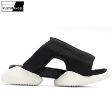 Summer New Designer Men Horseshoe Platform Slippers Height Increasing Gladiator Beach Sandals Unisex Outside Casual Slides Shoes