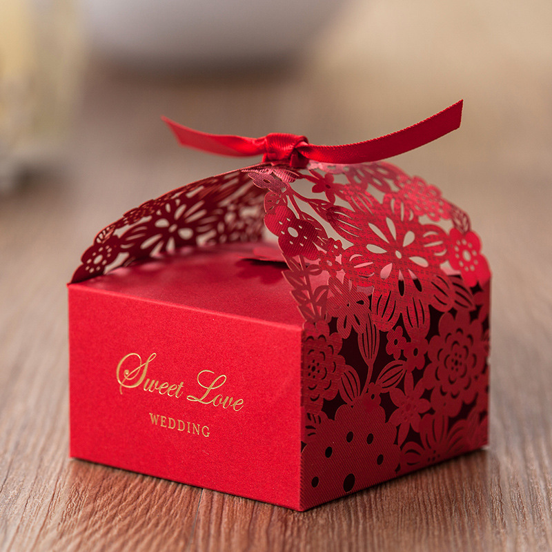 2017  Red  Wedding Gift Box Chinese Style Creative Paper Return Gift Candy Box  CB5086