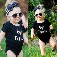 Cute Cotton Baby Girls Infant Black Clothes Cotton High Quality Bodysuit Jumpsuit Clothes Outfits