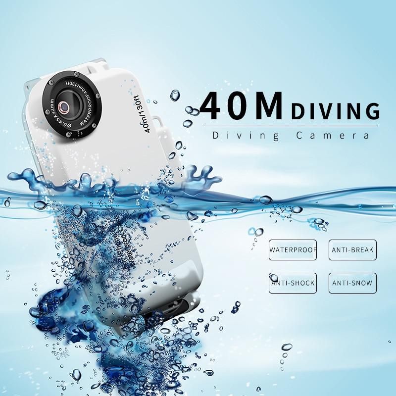 imágenes para Buceo profundo Impermeable Cajas Del Teléfono para el iphone 6 6 S 7 Plus Natación Subacuática Cámara Resistente Protección De Plástico Equipada casos