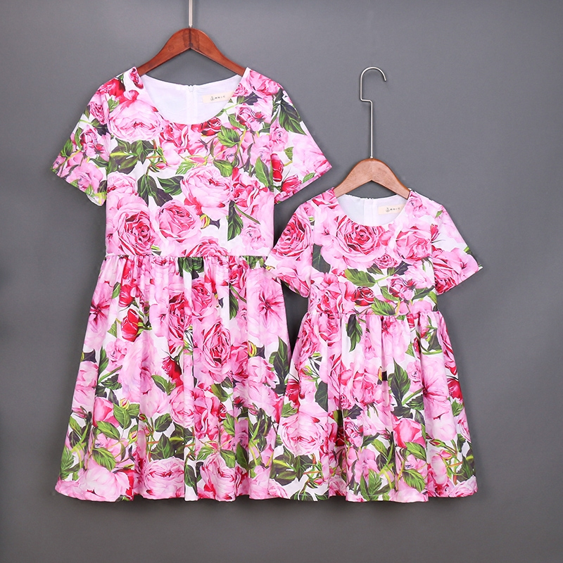 children clothes women girls family matching clothes