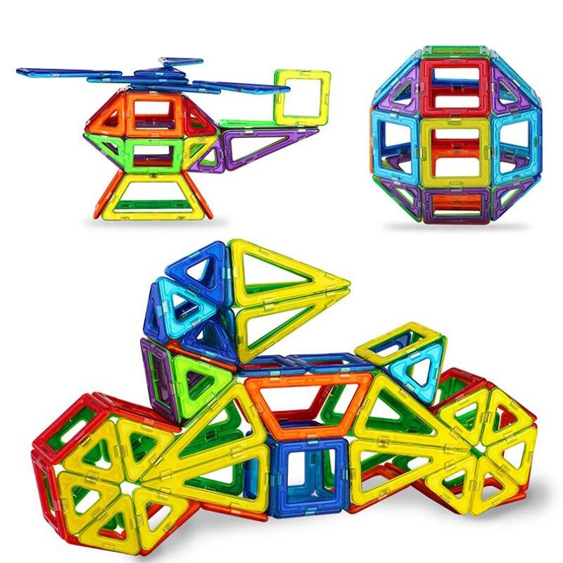 Image 4 - 184pcs 110pcs Mini Magnetic Designer Construction Set Model & Building Toy Plastic Magnetic Blocks Educational Toys For Kids Gifconstruction setset modelbuilding toys -