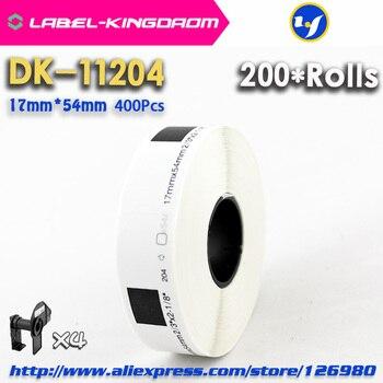 200 Refill Rolls Compatible DK-11204 Label 17mm*54mm 400Pcs Compatible for Brother Label Printer White Paper DK11204 DK-1204