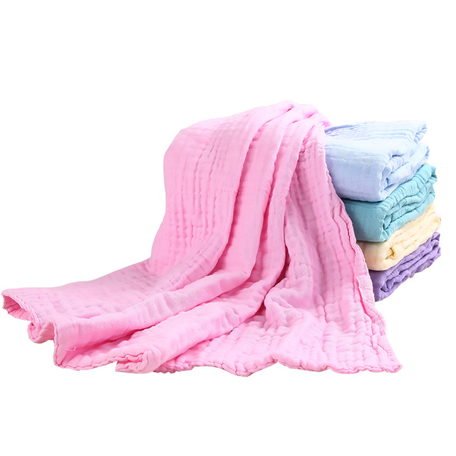 new square baby bath towels kids solid cotton baby towels blanket