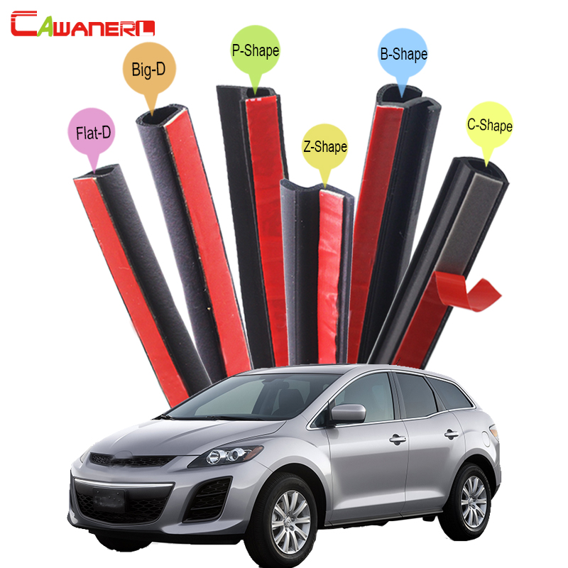 Cawanerl For Mazda CX-5 CX-7 CX-9 Tribute Car Hood Trunk Door Sealing Strip Kit Rubber Seal Edge Trim Weatherstrip Anti Noise cawanerl for daihatsu mira move sirion sonica car hood trunk door rubber sealing strip kit seal edge trim weatherstrip