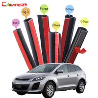 Cawanerl For Mazda CX 5 CX 7 CX 9 Tribute Car Hood Trunk Door Sealing Strip Kit Rubber Seal Edge Trim Weatherstrip Anti Noise