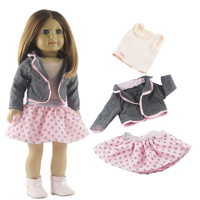 Fashion Toy Clothing Set Doll Clothes For 18 Inch Dolls American Girl Doll Clothes And