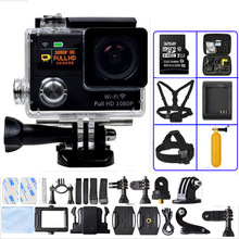 QIATENG Motion digicam Extremely HD 1080P 30fps / 720P 60fps 2.zero'LCD 170diploma WiFi Underwater 30M Sports activities Digicam Gopro model G3