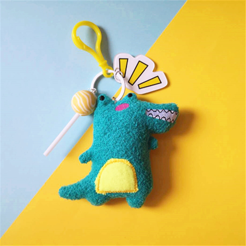 Cute Dinosaur Plush Doll <font><b>Toys</b></font> Keychain Plushs <font><b>Toys</b></font> Keyrings Cartoon Anime Dolls Baby <font><b>Toy</b></font> Gift For Kids' Women Bag Charms Jewelry image