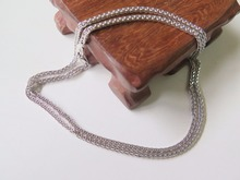 New Fine Pure AU750 White Gold 1.8mm W Wheat Chain Necklace