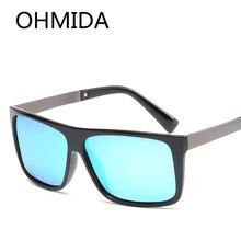 Nueva Moda Rectángulo Sunglass Adulto Espejo gafas de sol de Los Hombres UV400 Oculos gafas lentes de sol Azul Reflejado Gafas de Sol de Las Mujeres