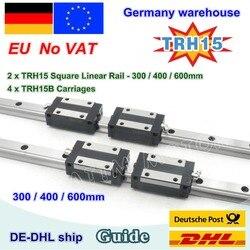 【DE free VAT】 15mm kwadratowa prowadnica liniowa TRH15 300mm 600mm i TRH15B wózki kwadratowy blok suwakowy do frezowania CNC w Prowadnice liniowe od Majsterkowanie na