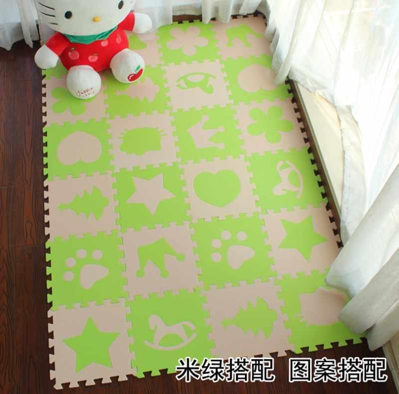 Marjinaa Детские EVA пены головоломки игровой коврик/Блокировка упражнений пол ковер плитка, ковер для детей, Each32cmX32cm 1 смтолщиной 24