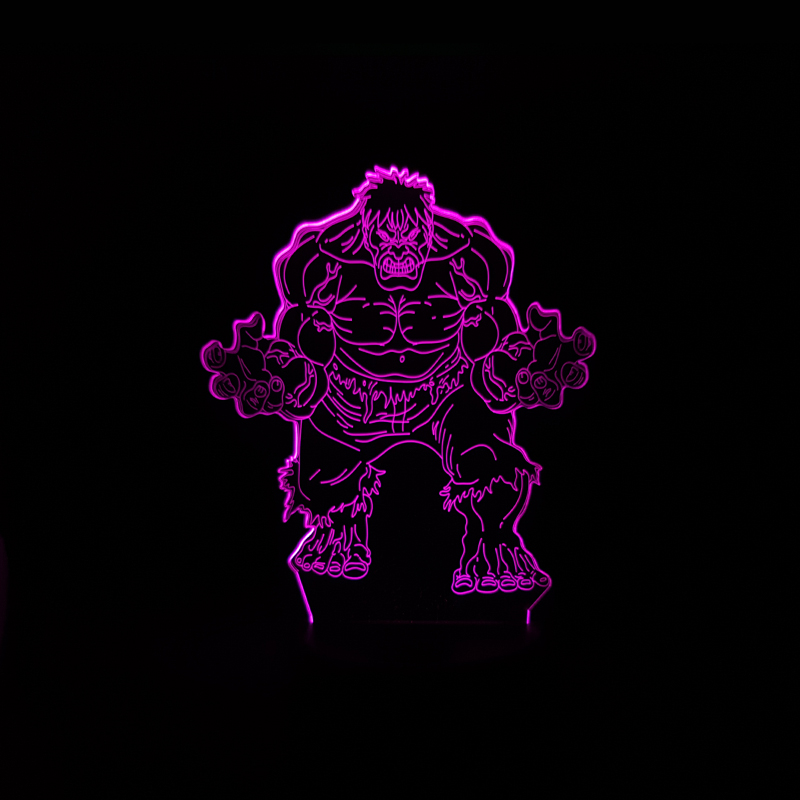 Luzes da Noite hero 3d criativo luz da Function 3 : Stage Lighting Effect/wedding Decor/house Decoration