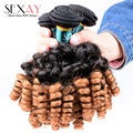 Ombre Русый Бразильские Волосы Афро-Бразильской Вьющиеся Волосы Девственницы 1B30 Два Тона Ломбер Бразильские Волосы Афро Кудрявый Вьющиеся Человека волос