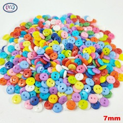 HL 100/300/600PCS Mix Color 7MM Nylon Buttons 2 Holes DIY Scrapbooking Kid's Garment Dolls Sewing Accessories