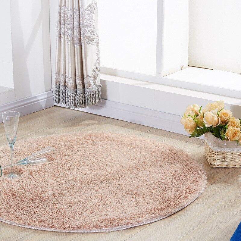 60cm Bath Mat Bathroom Carpet Rug Coral Round Soft Home Door Bathroom Mat Kitchen Door Floor Tapis De Bain
