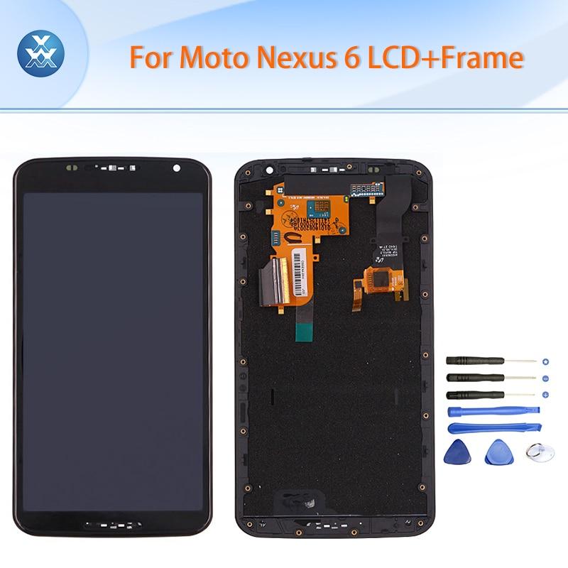 Подробнее о Original LCD for Motorola Google Nexus 6 LCD display touch screen digitizer full assembly frame black XT1100 XT1103 LCD+tool original nexus 6 lcd panel for motorola google nexus 6 xt1100 xt1103 lcd display touch screen digitizer with frame assembly