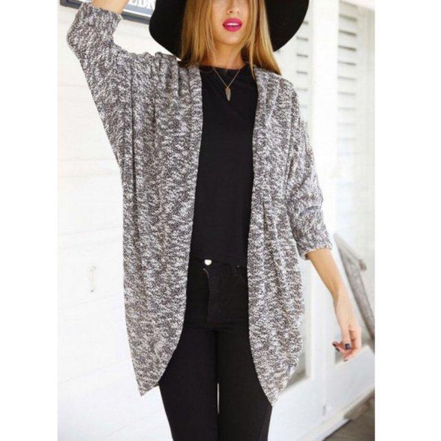 Loose Autumn Ladies Knitted Cardigans Women Long Cardigan Sweater ...