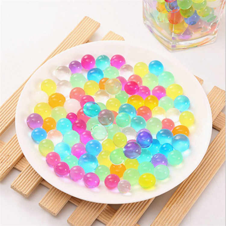 100PCS/Bag Crystal Earth Grown Beads Lovely Hydrogel Magic Gel Jelly Ball or Bizhai Baby Vase Decorated Weeding Decoration