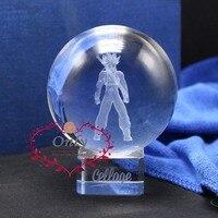Anime Dolll F.ZERO EX Dragon Ball Z Super Saiyan Trunks Crystal glass 3D Figure Model Glass Ball