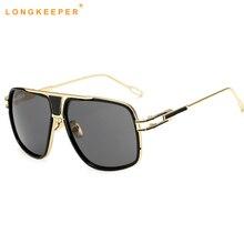 Oversized Men Sunglasses Women Classic Brand Designer Flat
