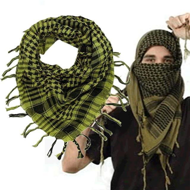 100% Хлопок Толщиной Мусульманское Hijab Shemagh Тактический Пустыня Арабский Шарф Арабских Шарфы Мужчины Зима Военная Ветрозащитный Шарф