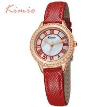 KIMIO Oro Banda de Cuero Relojes de Las Mujeres de Lujo Relojes Mujer 2016 Elegante Reloj de Cuarzo de Moda Señoras Reloj Montre Femme 531