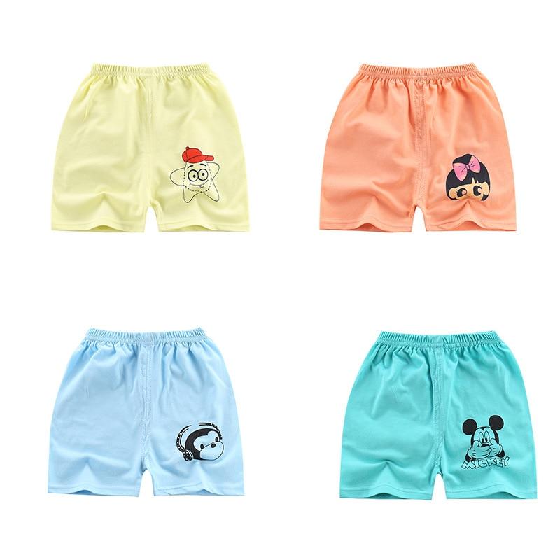 Children Summer Cotton One-piece Shorts Baby's Thin Style Boys Girls Shorts
